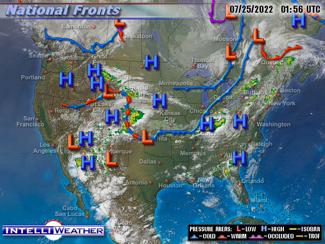 Intelliweather National Weather Fronts Map