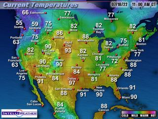 US Weather Map US Weather Forecast Map Maps And Radar Weather - Current weather map of us